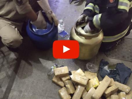 Em Luziânia, PM prende traficante com drogas em botijão de gás; Corpo de Bombeiros apoiou operação