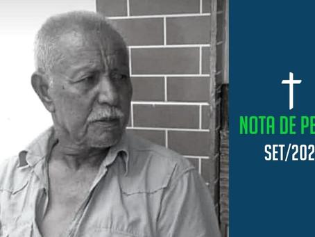 Nota de pesar: Juvenal Olímpio Nunes