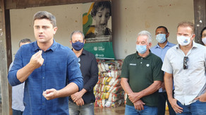 Prefeitura de Luziânia realiza entrega de alimentos para famílias do distrito do Jardim do Ingá