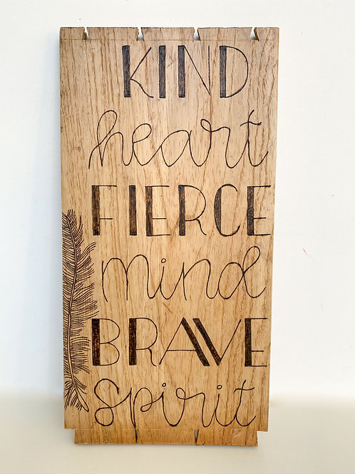 Kind Heart Quote Wall Hanging