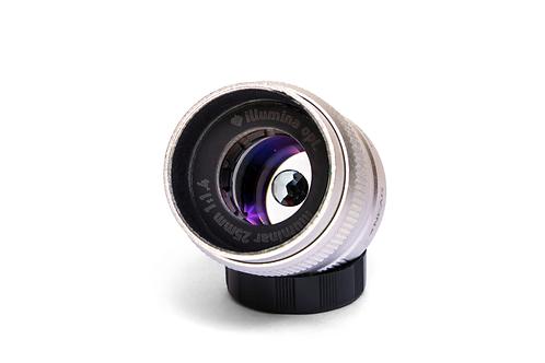 宝石レンズ illuminar 25mm f 1.4 ブルートパーズ/シルバー (マイクロフォーサーズ用/Cマウント)