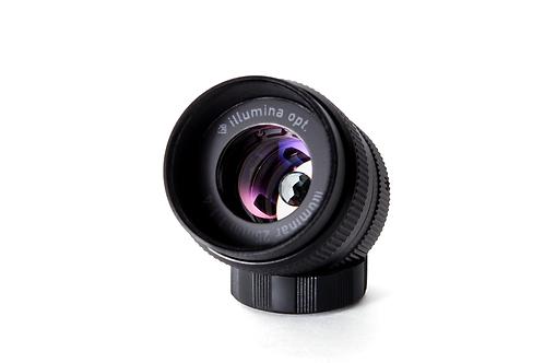 宝石レンズ illuminar 25mm f 1.4 ブルートパーズ/ブラック (マイクロフォーサーズ用/Cマウント)