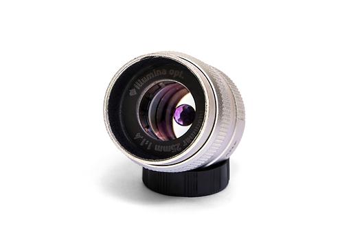宝石レンズ illuminar 25mm f 1.4 アメジスト/シルバー (マイクロフォーサーズ用/Cマウント)