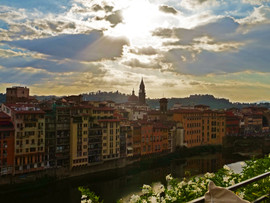 Rooftop view in Florence, Italy