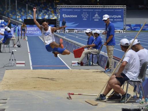 拿坡里世大運》男子跳遠資格賽 林昱堂以第七名晉級決賽
