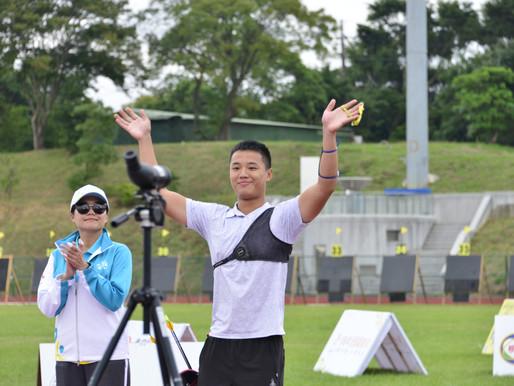 108全運會射箭反曲弓個人項目冠軍由楊恢哲與彭家楙奪下!
