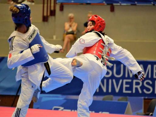 拿坡里世大運》跆拳道女子67公斤 莊貫渝3分差惜收銅