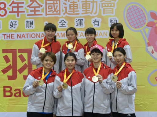 終於擺脫亞軍夢魘 地主桃園市羽球女團喜獲冠軍