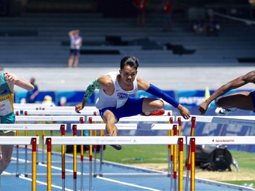 拿坡里世大運》男子110跨欄 楊尉廷預賽分組第一晉級
