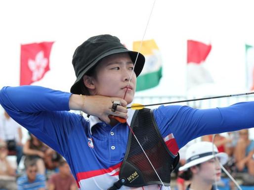 拿坡里世大運》射箭反曲弓女子個人賽 彭家楙射下銅牌