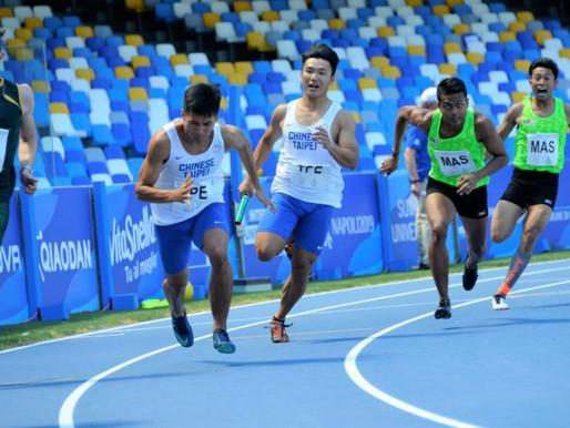 拿坡里世大運》男子4X100公尺接力 中華隊分組第二順利晉級決賽