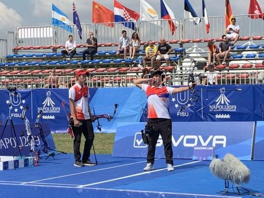 拿坡里世大運》射箭複合弓 中華隊女團擊敗俄羅斯贏得銅牌