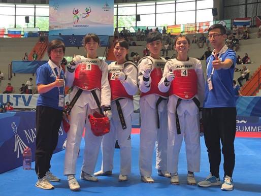 拿坡里世大運》跆拳道女團金牌戰韓國 馬婷霞關鍵踢擊助中華隊奪金
