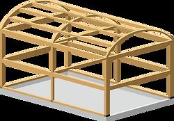 大断面木造ラーメン工法