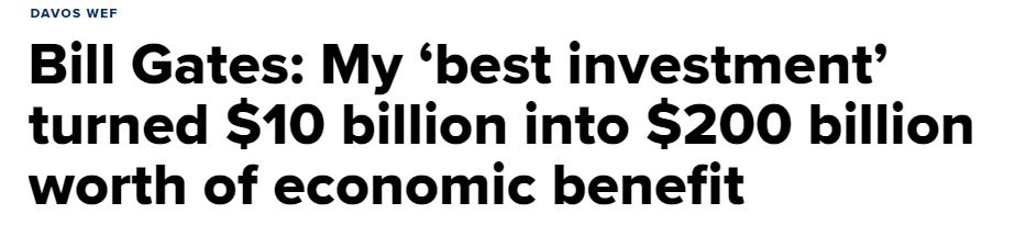 Cita de Bill Gates en Davos