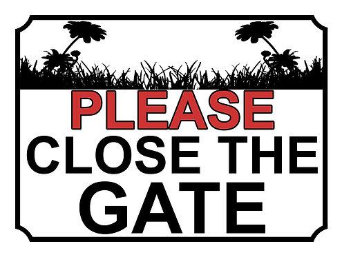 Please Close The Gate Sun Flower Field Theme Yard Sign Garden