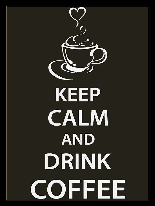 Keep Calm Drink Coffee, Retro Metal Sign / Fridge Magnet Pub Bar Man Cave