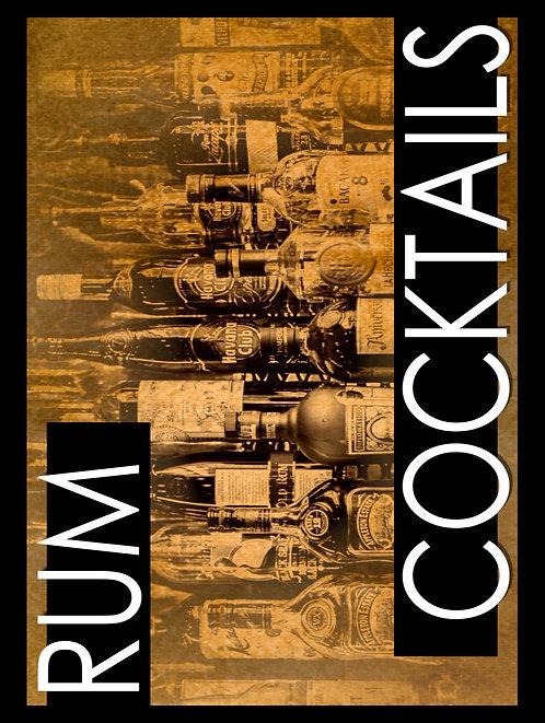 Rum Cocktail, Retro Metal Sign / Fridge Magnet Pub Bar Man Cave