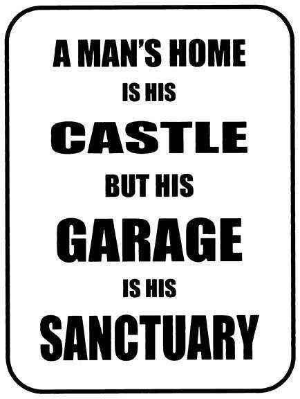 A mans Home Is His Castle Funny, Retro Metal Sign / Fridge Magnet Bar Man Cave