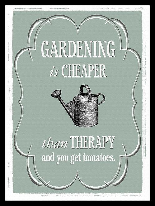 Gardening Joke, Retro Metal Sign / Fridge Magnet Pub Bar Man Cave