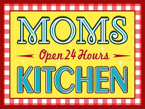 Moms Kitchen, Retro Metal Sign / Fridge Magnet Pub Bar Man Cave