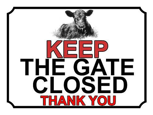 Keep The Gate Closed Thankyou Cow Theme Yard Sign Garden
