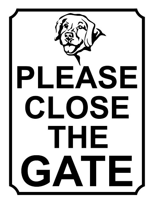 Please Close The Gate Dog Theme Yard Sign Garden