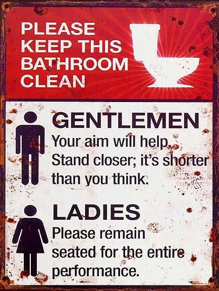 Funny Toilet, Retro Metal Sign / Fridge Magnet Home Decor Humorous
