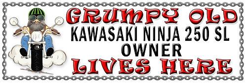 Grumpys Old Kawasaki Z1000SX Owner,  Humorous metal Plaque 267mm x 88mm