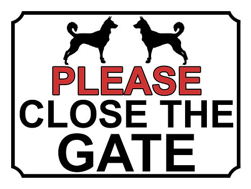 Please Close The Gate Dog Breed Chihuahua Theme Yard Sign Garden