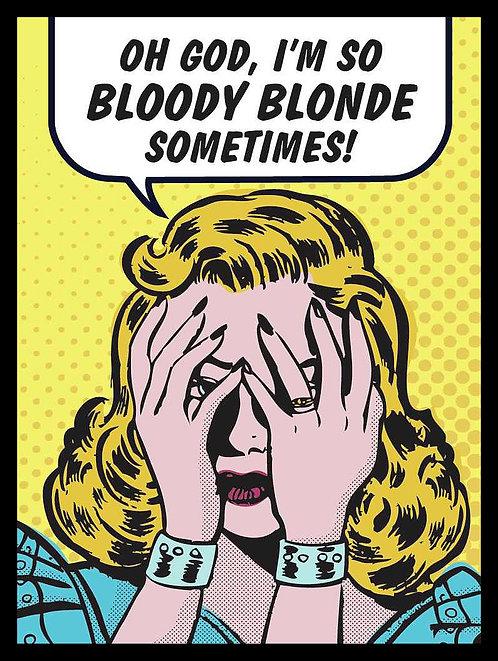 Bloody Blonde, Retro Metal Sign / Fridge Magnet Pub Bar Man Cave
