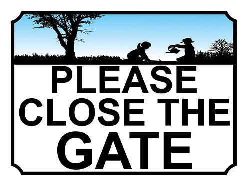 Please Close The Gate Children In Garden Theme Yard Sign Garden