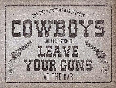 Cowboys Joke, Retro Metal Sign / Fridge Magnet Bar Man Cave