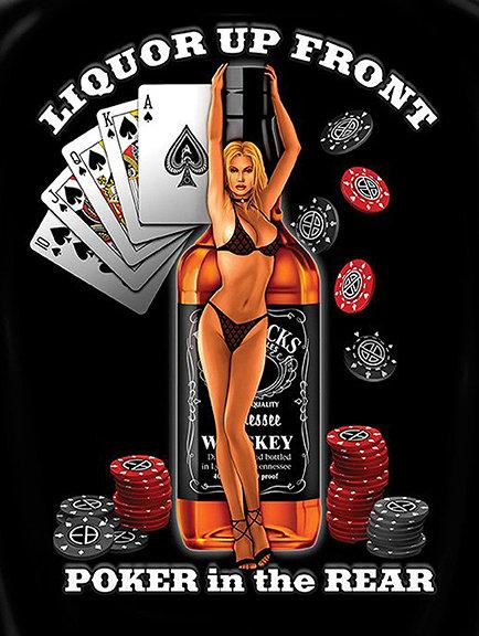 Poker in the rear funny, Retro Metal Sign / Fridge Magnet Bar Man Cave