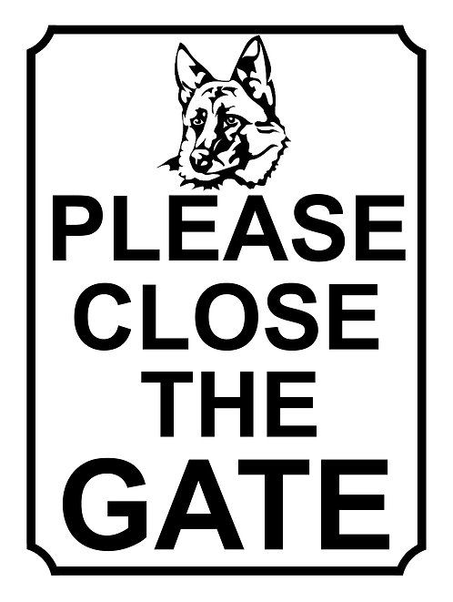 Please Close The Gate German Shepherd Theme Yard Sign Garden