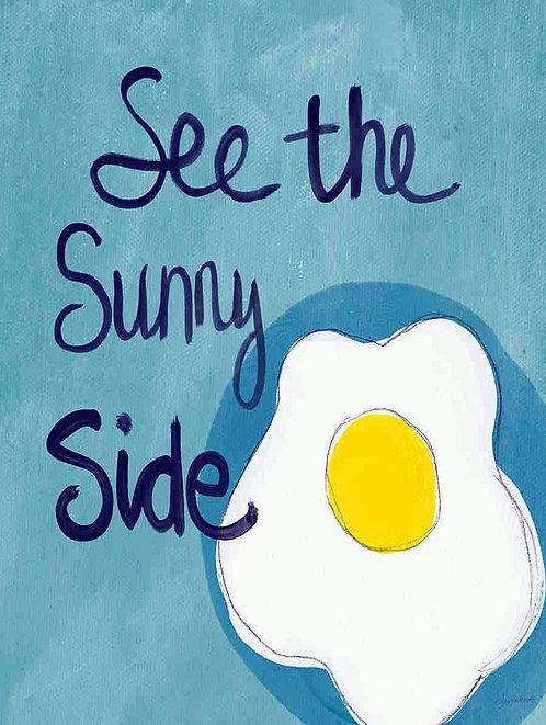 See The Sunny Side, Retro Metal Sign / Fridge Magnet Pub Bar Man Cav
