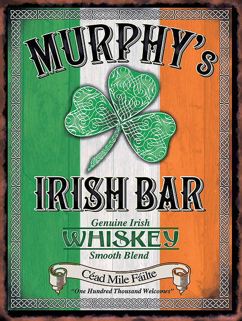 Murphy's Irish Bar, Retro Metal Sign / Fridge Magnet Home Decor Pub Bar Man Cave
