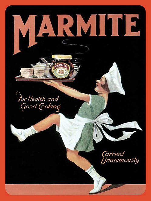 Marmite, Retro Metal Sign / Fridge Magnet Pub Bar Man Cave