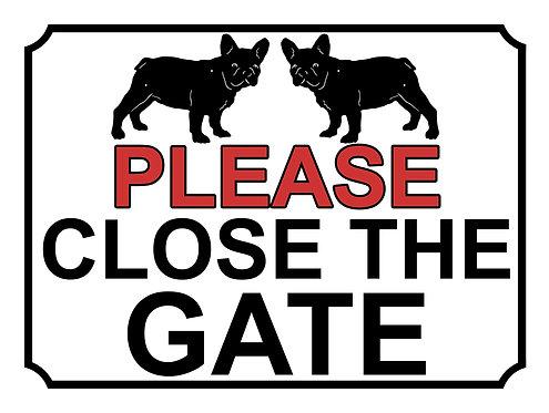 Please Close The Gate Pug Theme Yard Sign Garden