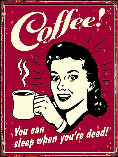 Coffee, Retro Metal Sign / Fridge Magnet Pub Bar Man Cave