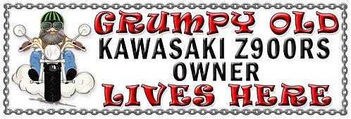Grumpys Old Kawasaki Z900RS Owner,  Humorous metal Plaque 267mm x 88mm