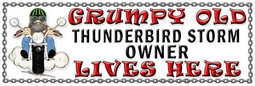 Grumpys Old Thunderbird Storm Owner,  Humorous metal Plaque 267mm x 88mm