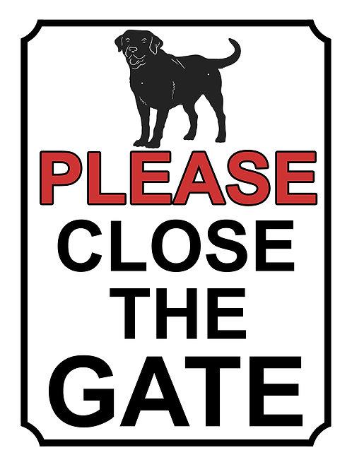 Please Close The Gate Dog Labrador Theme Yard Sign Garden
