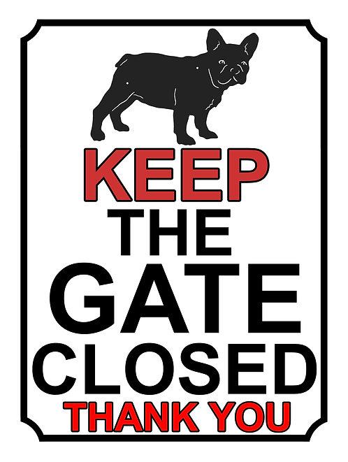 Keep The Gate Closed Thankyou Pug Theme Yard Sign Garden