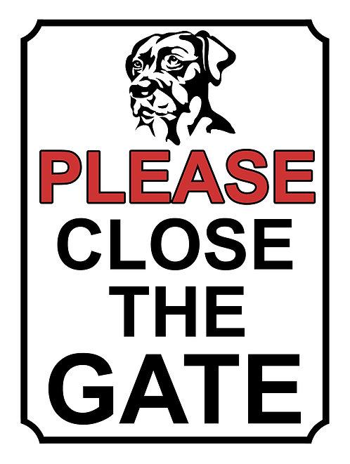 Please Close The Gate Dog Breed Theme Yard Sign Garden