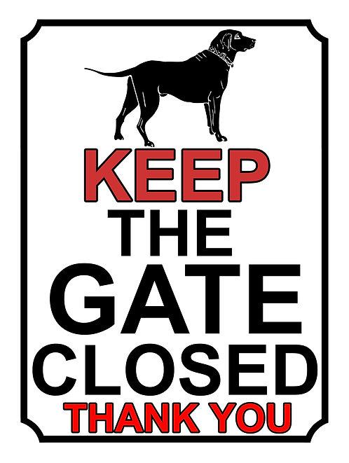 Keep The Gate Closed Thankyou Dog Silhouette Theme Yard Sign Garden