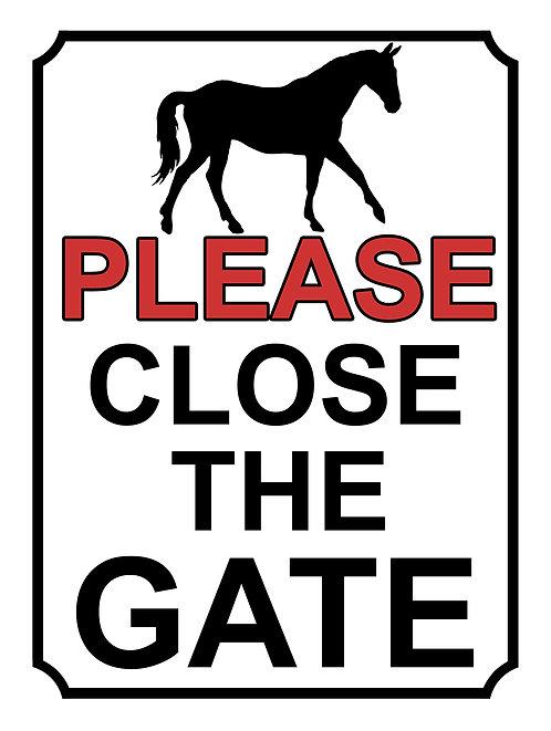 Please Close The Gate Horse Theme Yard Sign Garden