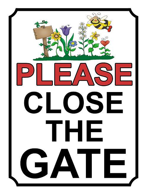 Please Close The Gate Beautiful Garden Theme Yard Sign Garden