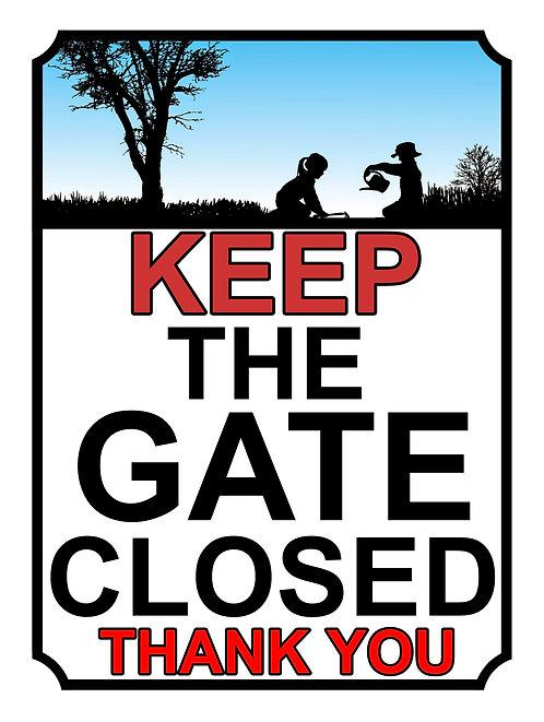 Keep The Gate Closed Thankyou Children In Garden Theme Yard Sign Garden
