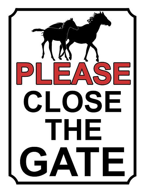 Please Close The Gate Horses Theme Yard Sign Garden